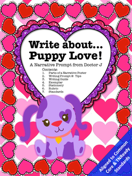 Puppy Love Valentine's Day Narrative Essay Writing Prompt
