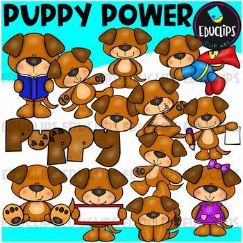 Puppy Power Clip Art Bundle