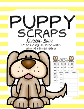 Puppy Scraps - Division with Remainders Game