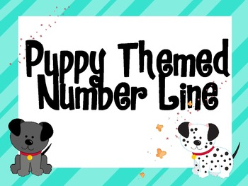 Puppy Themed Number Line