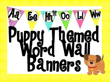Puppy Themed Word Wall