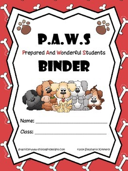 Puppy or Dog Paws Binder Cover