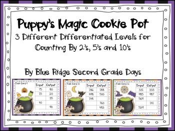 Puppy's Magic Cookie Pot: Halloween Themed