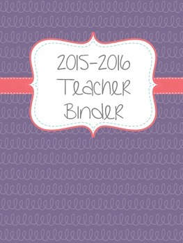 Purple Binder Cover and Dividers