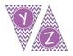 Purple Chevron Alphabet Banner Set (upper & lowercase, num