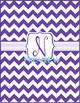 Purple Chevron Monogrammed Book Covers