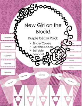Purple Classroom Decor Pack