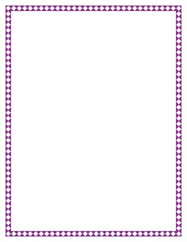 Purple Diamond Border Set