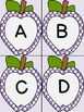 Purple Dot Apple Alphabet Letter Flashcards