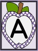 Purple Dot Apple Letter Flashcards and Posters Bundle