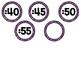 Purple Glitter Clock Labels