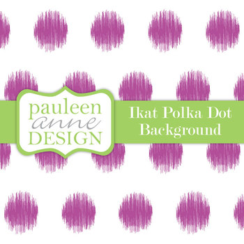 Purple Ikat Polka Dot Background