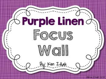 Purple Linen Focus Wall {White}