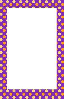 Purple, Orange, Yellow Polka dot Border