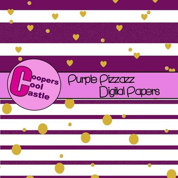 Purple Pizzazz Digital Papers
