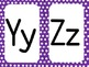 Purple Polka Dot Alphabet (large)