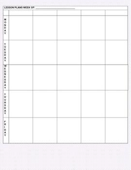 Purple Polka Dot Lesson Planner