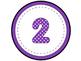 Purple Polka Dot Table Numbers 1-8