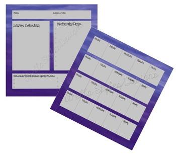 Purple Teacher Planner Set