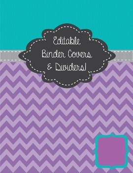 Purple & Teal Binder Cover Pages - Editable