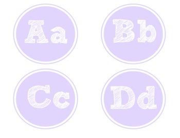 Purple Word Wall Letters