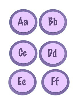 Purple Word Wall Letters & Numbers