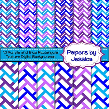 Digital Papers - Purple and Blue Rectangular Texture
