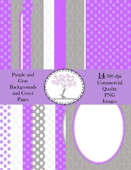 Purple and Gray Backgrounds and Cover Pages