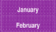 Purple and Turquoise (White Letters) Polka Dot Calendar
