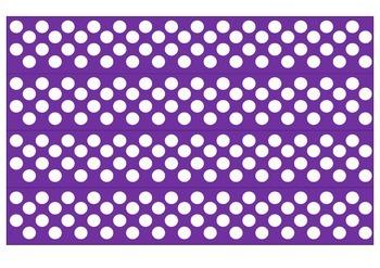 Purple and White Polka Dot Borders