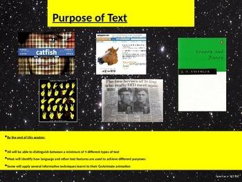 Purpose of Text quiz