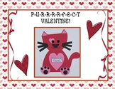 """Purrrrfect"" Valentine Craft (Kitty) and Literacy Activities"