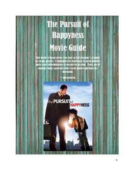 Pursuit of Happyness Movie Guide (Poverty, Social Mobility