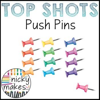 NickyMakes - TOP SHOTS - Push Pins