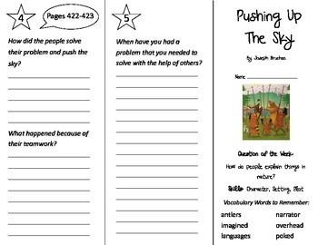 Pushing Up The Sky Trifold - Reading Street 3rd Grade Unit