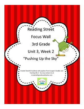 Pushing Up the Sky Focus Wall Posters Reading Street, Grade 3 CC