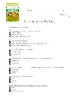 Pushing Up the Sky: Kid-friendly test!