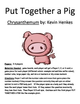Put Together a Pig Chrysanthemum by Kevin Henkes PDF file