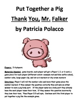 Put Together a Pig: Thank You Mr. Falker by Patricia Polacco