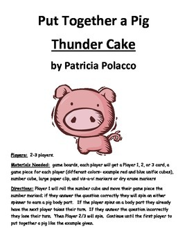 Put Together a Pig: Thunder Cake by Patricia Polacco