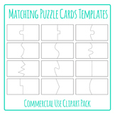 Puzzle Cards Templates for Matching Games Clip Art Pack fo