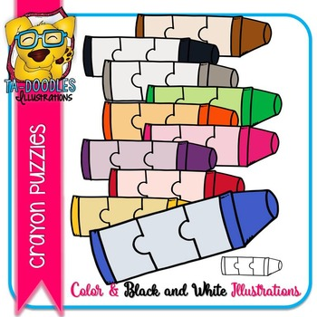 Puzzle Clipart :  Crayon Puzzle Commercial Use