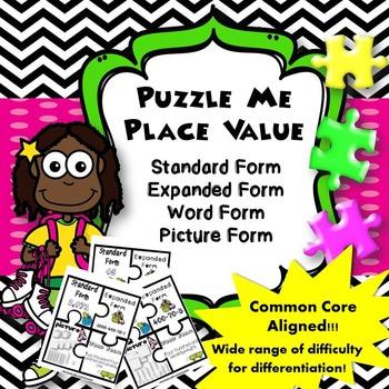 Puzzle Me Place Value {2nd Grade Common Core Aligned}
