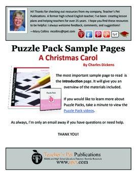 Puzzle Pack Sampler A Christmas Carol