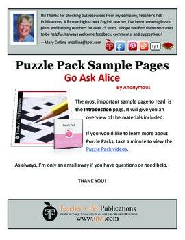 Puzzle Pack Sampler Go Ask Alice