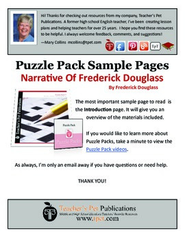 Puzzle Pack Sampler Narrative of Frederick Douglass
