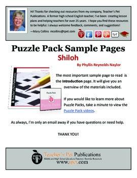Puzzle Pack Sampler Shiloh