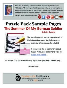 Puzzle Pack Sampler Summer of My German Soldier