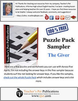 Puzzle Pack Sampler The Giver