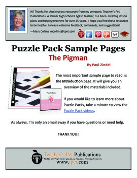 Puzzle Pack Sampler The Pigman